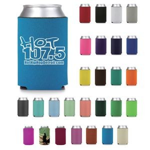 Economy Premium Foam Can Cooler - Screen Printed