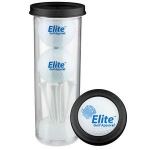 Two Ball Value Golf Gift Tube w/ Domed Imprint