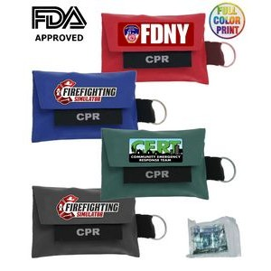CPR Shield Pouch with Attached Key-Chain - FDA APPROVED!