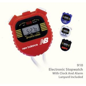Digital Stop Watch with Chronometer/ Alarm/ Clock & Lap Time