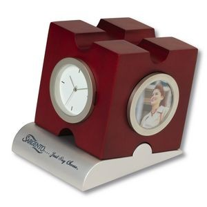 Puzzle Design Desk Clock & Photo Frame
