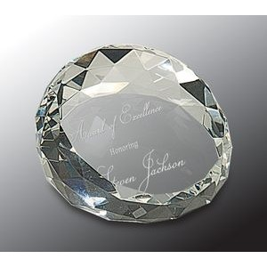Crystal Facet Paper Weight
