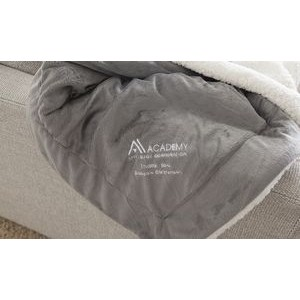 Custom Embroidered Oversize Mink Sherpa Blanket