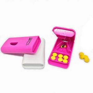 Mini Square Medical Tablet Cutter Pill Box