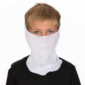 Childrens White Bandanna Facemask