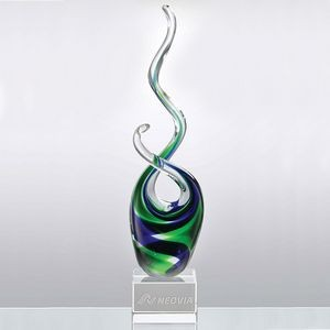 Tropical Splash Art Glass Award