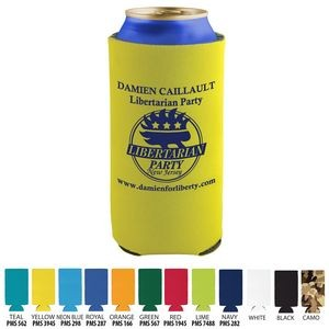 Tall Beverage Insulator Cooler Pocket Can Coolie - 3 Side Imprint Included!
