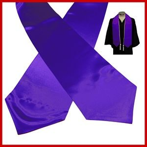 Blank Violet Purple Graduation Stole