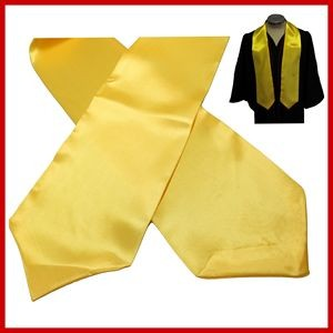 Blank Gold / Yellow Graduation Stole