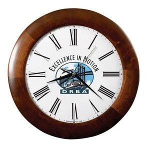 Howard Miller Cherry Finish Wood Corporate Wall Clock (Full Color Dial)