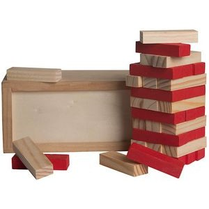 Wood Tower Puzzle (Red)