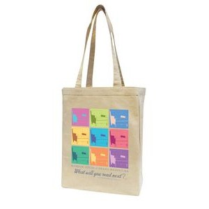 Natural Cotton Canvas Tote Bag w/ Full Gusset - Overseas (11