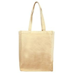 Natural Cotton Canvas Tote Bag w/ Full Gusset - Blank (11