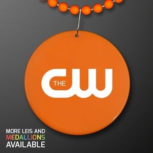 Orange Medallion with Beaded Necklace (Non Light Up)