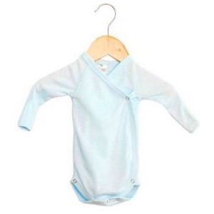 The Laughing Giraffe® Preemie Long Sleeve Kimono Romper w/Mittens - Pastels
