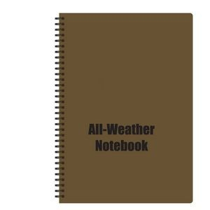 Spiral Bound All Weather Notebook (Coyote Brown) (8 1/2