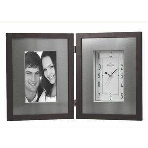 Bulova Winfield Picture Frame & Clock