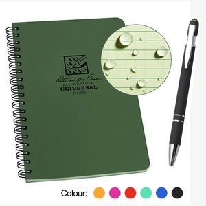 All Weatherproof Field A5 Interview Notebook with pen